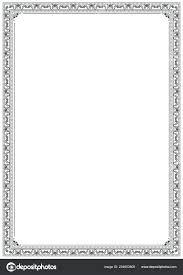 Paper Frames Templates Paper Border Designs Template Seraffino Com