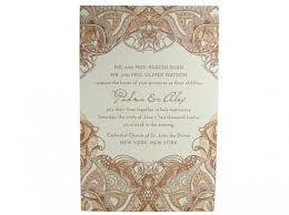 Mehndi Letterpress Wedding Invitation Digby Rose Digby Rose