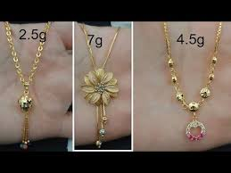 latest light weight gold necklace