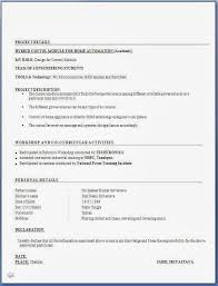 Resume Format For Freshers Mechanical Engineers Pdf Free Collection