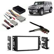 hummer h3 2006 2010 double din aftermarket stereo harness radio Radio Harness Kits hummer h3 2006 2010 double din aftermarket stereo harness radio install dash kit radio harness kit for subaru