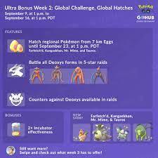 Ultra Bonus Event Guide: Week 2 (2019) - Pokémon GO Hub