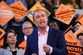 Image result for picture of Tim Farron resigning