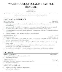 Example Resume Skills List