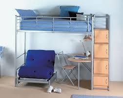 image of loft bunk beds with desk design