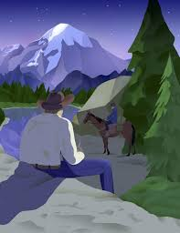 brokeback mountain the new yorker illustration by rebekka dunlap