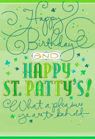Birthday On Day Card Sign Of The Shamrock St Patrick S Day Birthday Card Greeting