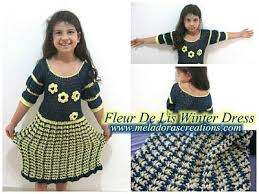 Free Crochet Dress Patterns Awesome Fleur De Lis Winter Dress Free Crochet Pattern