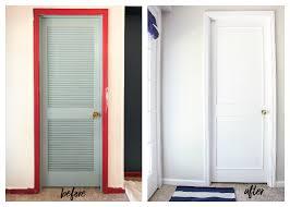 diy louvered closet door makeover
