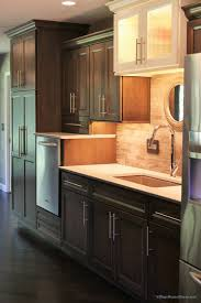Grey Stained Kitchen Cabinets Gray Stained Cherry Cabinets In The Caraway Finish