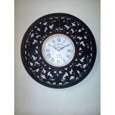 black wooden wall clock taj india