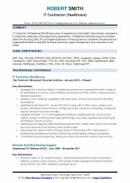 It Contractor Resume Samples Qwikresume