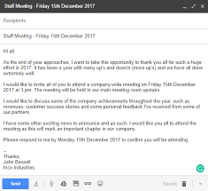 Letter Bussines Invitation Letter Examples And Templates For Business Meetings