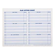 Nwp Charts Amazon Com Glovers Scorebooks Football Play Options