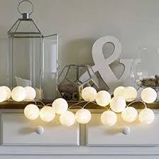 Celebrations & Occasions 10/20 Balls <b>LED Cotton Ball String</b> Light ...