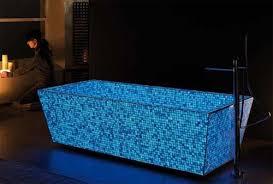 lucedentro glow in the dark mosaic tiled bathtub