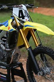 2018 suzuki rmz 450 shock. brilliant 2018 a new showa spring fork graces the front end of rmz450 action is far  superior to that old tac air fork intended 2018 suzuki rmz 450 shock e