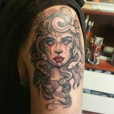 медуза горгона тату татуировка тату студия White Raven в