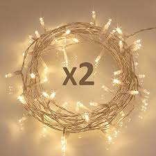 led string lights 2 pack 40 led timer battery fairy lights on 5m clear string cable for indoor and outdoor bedroom patio garden 8 modes