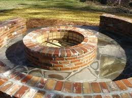 how to make a brick fire pit building a round brick fire pit designs