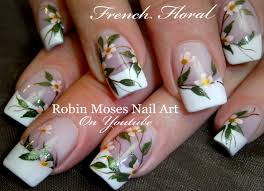 Robin Moses Nail Art: Elegant White Flower Nails
