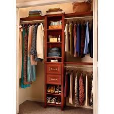 impressions in w dark cherry narrow closet kit throughout enchanting home depot organizer closetmaid with shoe