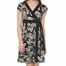 Dana Buchman Size Chart New Dana Buchman Wrap Dress Leaf Print Size S Nwt