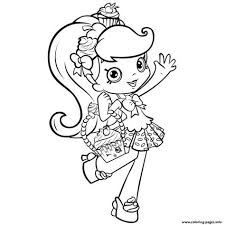 Print Shopkins Girl Shoppie Say Hi Coloring Pages Color Book