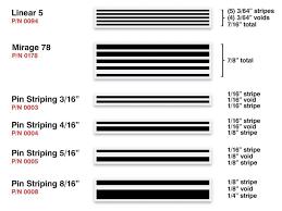 3m Stripe Chart Vinyl Pinstripe Rolls Beaver Stripes
