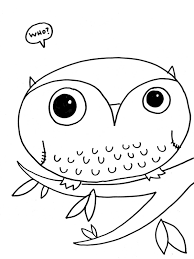 Baby Owl Coloring Page Free Download