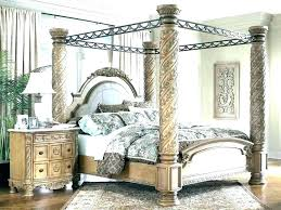canopy bed frame with curtains – lehvi.co