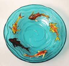 create a stunning koi fish piece that can be left flat or slumped to create a bowl the detail within the mold is extremely intricate leaving the