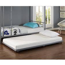 kids bed. Walker Edison Furniture Company Silver Twin Metal Trundle Bed Kids