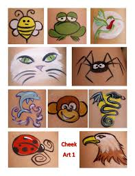 easy simple design face painting on cheek simple face painting cheek designs new face painting