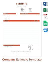 Sample Construction Estimate Template Free Download Excel Yakult Co