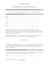 Free Ownership Transfer Letter Format Templates At