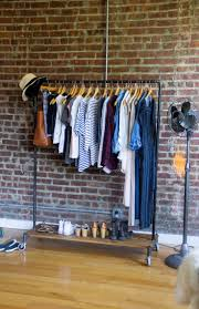 Exposed clothing rack... if I ever have the space for such a thing