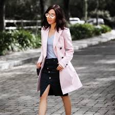 banana republic collaboration spring trench pink trench banana republic style