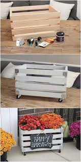 try these best diy projects for your home decoration diy crate planter get some vintage wooden