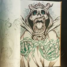 Final Inks On The Lich Sketch Sketchbook In 2019 Adventure Time