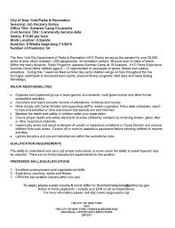 Parks And Recreation Resume | Resume For Study