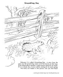 Groundhog Day Coloring Pages Groundhog Sticking Head Out Of His