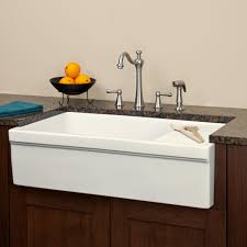 Kitchen  Adorable Farm Sink With Drainboard Porcelain Kitchen Barn Style Kitchen Sinks