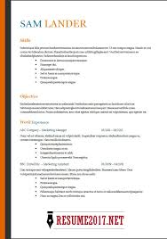 Job Resume Template 2018
