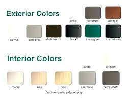 Andersen Color Chart Andersen Awning Window Size Chart Best Picture Of Chart