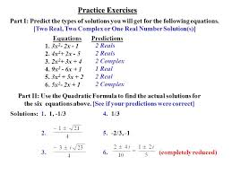 two real two complex or one real number solution s