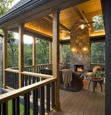Plain Covered Deck Ideas With Fireplace Backyards Click Best 25 Designs In Perfect