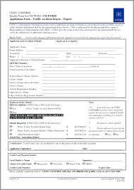 Vehicle Accident Report Form Traffic Template Colorado Danielpirciu Co