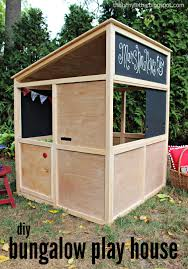 Learn how to build a bungalow playhouse that can be used indoors or out!  FREE