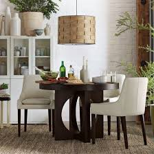 contemporary wooden dining table with cutout legs round dining table designs